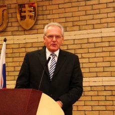 Ďakovná reč Prof. Kovácsa pri preberaní Dôstojníckeho kríža, 2013