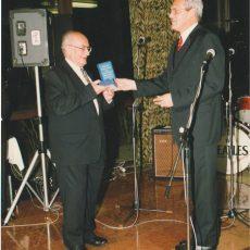 S Prof. Šašinkom na oslave svojich 50. narodenín, október 2000